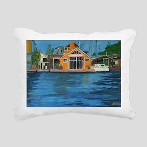 Fremont Houseboat Rectangular Canvas Pillow