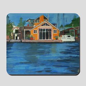 Fremont Houseboat Mousepad