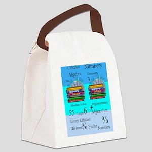 Math Teacher 7 Canvas Lunch Bag