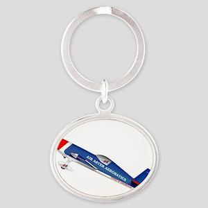 Air Aster Aerobatics Oval Keychain