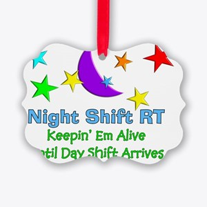 Night Shift RT 3 Picture Ornament