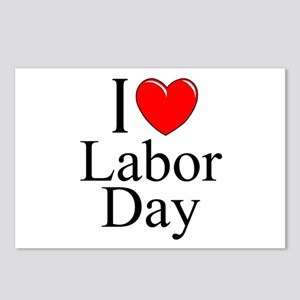 """""""I Love (Heart) Labor Day"""" Postcards (Package of 8"""