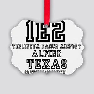 US - TEXAS - AIRFIELD CODES - 1E2 Picture Ornament