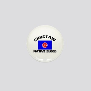 Choctaw Native Blood Mini Button