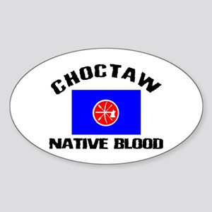 Choctaw Native Blood Oval Sticker
