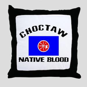 Choctaw Native Blood Throw Pillow