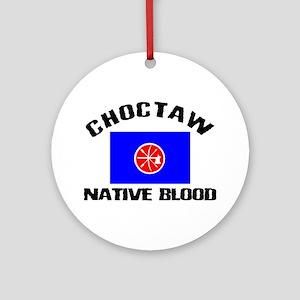 Choctaw Native Blood Ornament (Round)
