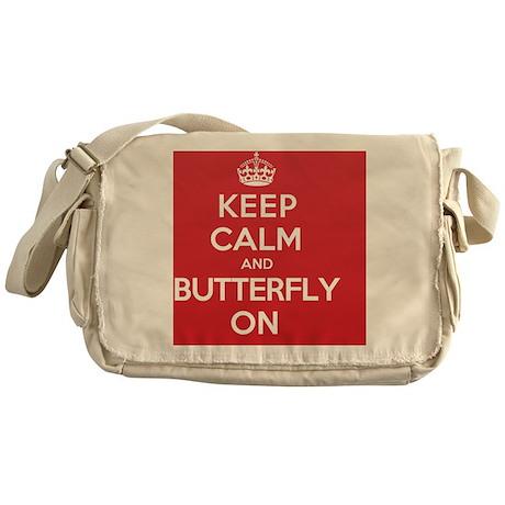 Keep Calm Butterfly Messenger Bag