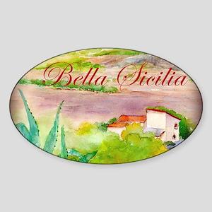 Bella Sicilia Sticker (Oval)