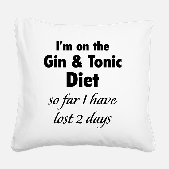 ginTonicDiet1A Square Canvas Pillow