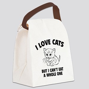 loveCatsEat1A Canvas Lunch Bag