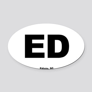 Edisto South Carolina EURO Oval Oval Car Magnet