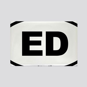 Edisto South Carolina EURO Oval Rectangle Magnet