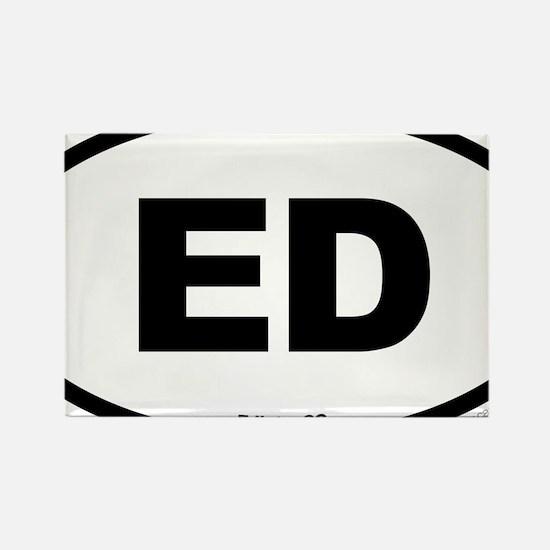 Edisto South Carolina EURO Oval Rectangle Magnet