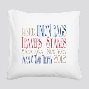 Union Rags - Travers Stakes 2 Square Canvas Pillow