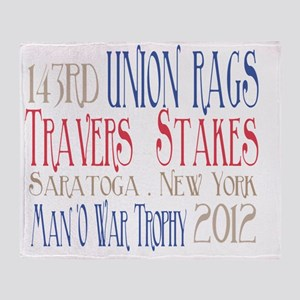 Union Rags - Travers Stakes 2012 Throw Blanket