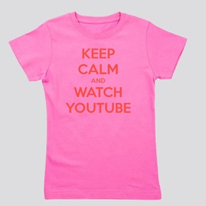 keep calm and watch youtube Girl's Tee