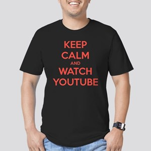 keep calm and watch yo Men's Fitted T-Shirt (dark)
