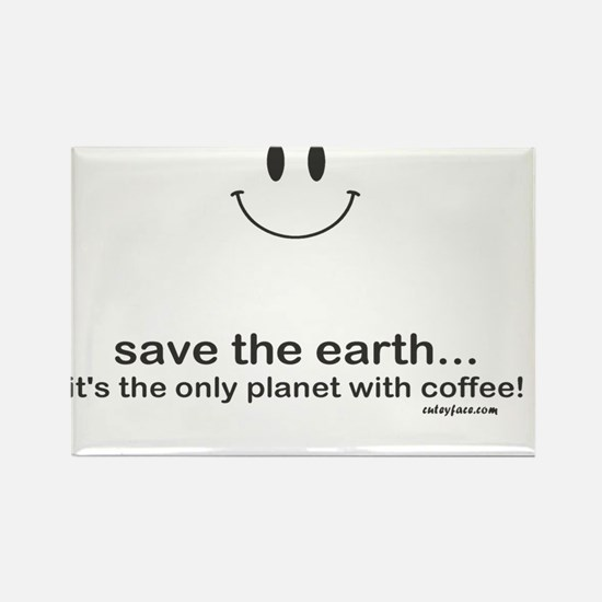 Save Coffee Rectangle Magnet