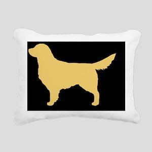 Golden Retriever Hitch C Rectangular Canvas Pillow
