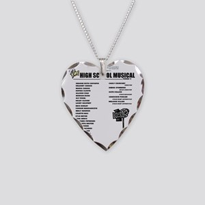High School Musical Necklace Heart Charm