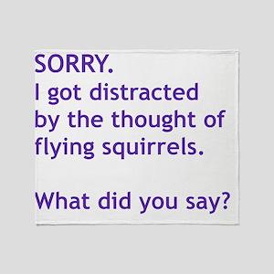 Purple Squirrels Throw Blanket