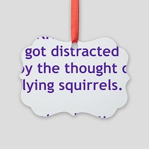 Purple Squirrels Picture Ornament