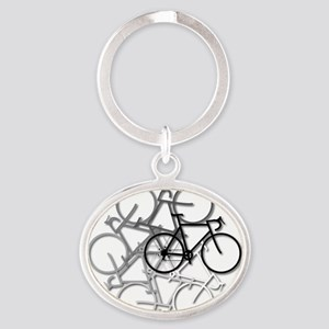 Bicycle circle Oval Keychain
