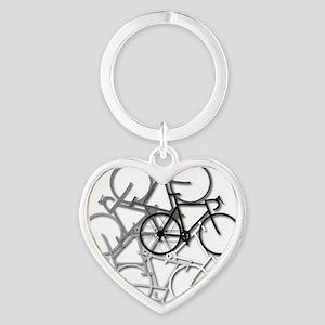 Bicycle circle Heart Keychain