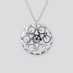 Bicycle circle Necklace Circle Charm