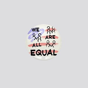 We Are All Equal American Flag Mini Button