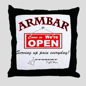 Armbar - we are open Throw Pillow