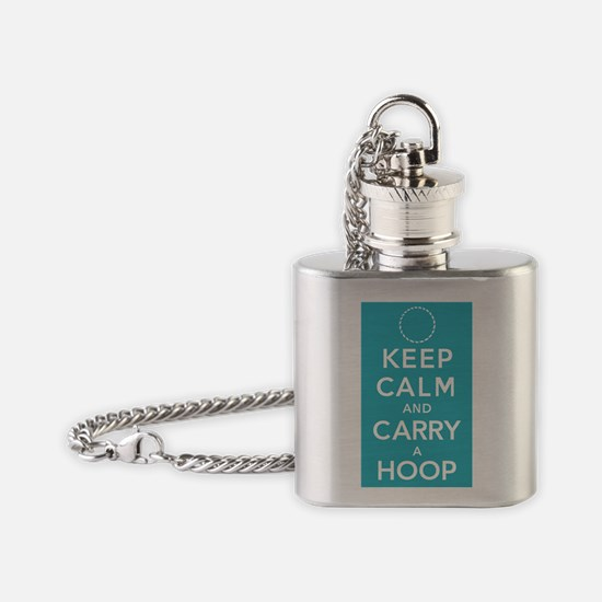 Teal Keep Calm Flask Necklace