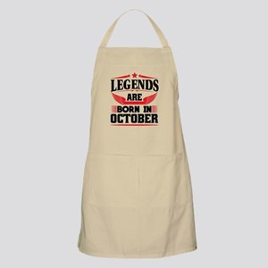 Legends Are Born In October Light Apron