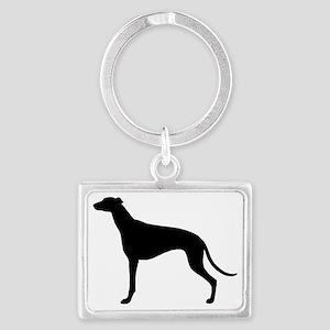 Greyhound Landscape Keychain