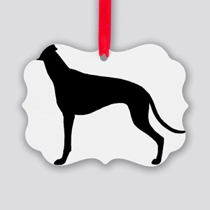 Greyhound Picture Ornament