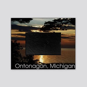 Ontonagon, Michigan Sunset Picture Frame