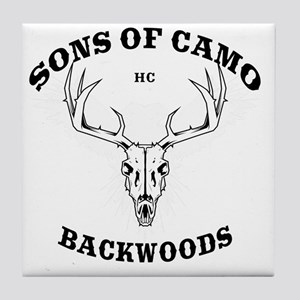 Sons Of Camo Dark Tile Coaster