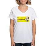 nee ora corangin ano? Women's V-Neck T-Shirt