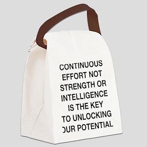 continuous effort winston churchi Canvas Lunch Bag