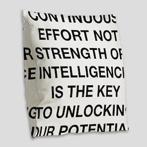 continuous effort winston chur Burlap Throw Pillow