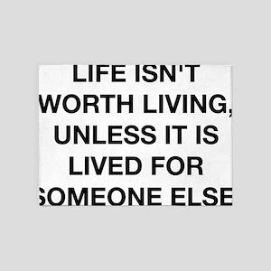 a life worth living albert einstein 5'x7'Area Rug