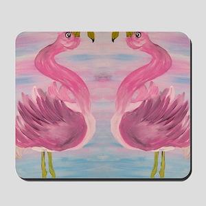 Sassy Flamingos Mousepad