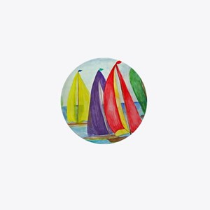Colorful Sails Mini Button