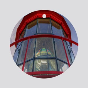 St Augustine Lighthouse Lens Round Ornament