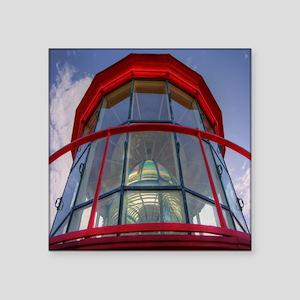 "St Augustine Lighthouse Len Square Sticker 3"" x 3"""
