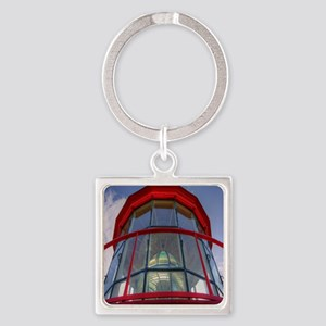 St Augustine Lighthouse Lens Square Keychain