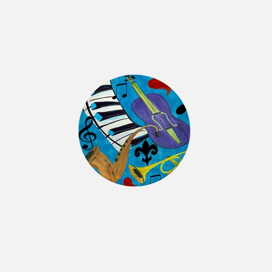 Jazz on Blue Mini Button