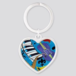 Jazz on Blue Heart Keychain