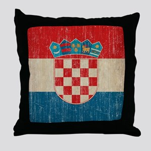 Vintage Croatia Throw Pillow